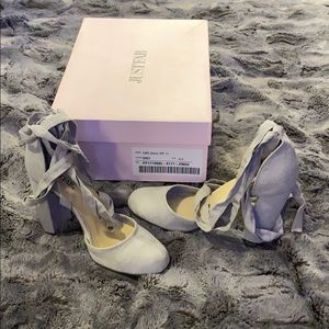 NWB Justfab Kateryna grey lace up pumps